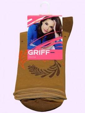 Носки Griff D266 горошек с перьями
