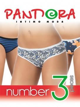 Трусы женские Pandora PD 1091 (3 шт.) slip