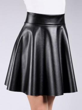 Юбка Giulia MINI SKIRT leather 01