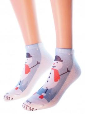 Носки Hobby Line HOBBY 3Д03-1 женские Снеговик