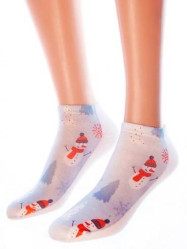 Носки Hobby Line HOBBY 3Д03-2 носки женские Снеговик