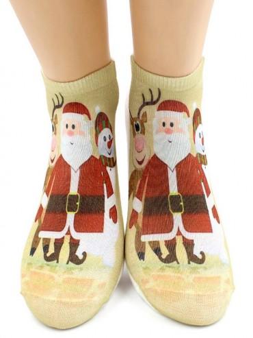 Носки Hobby Line HOBBY 3Д07-2 носки женские Санта-Клаус