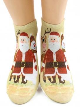 Носки Hobby Line HOBBY 3Д07-2 женские Санта-Клаус