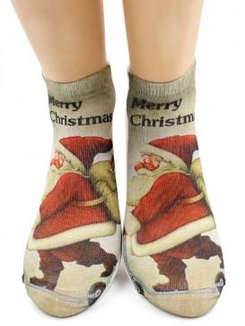 Носки Hobby Line HOBBY 3Д07-6 женские Санта-Клаус