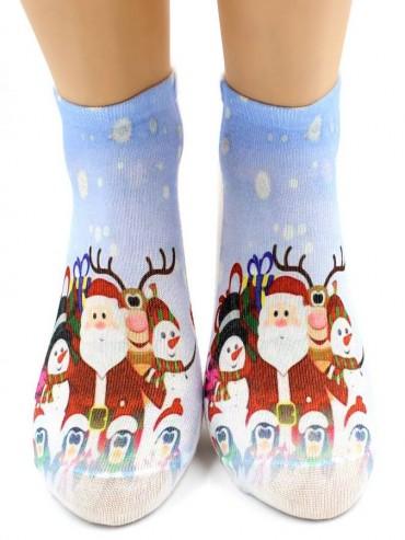 Носки Hobby Line HOBBY 3Д07-7 носки женские Санта-Клаус