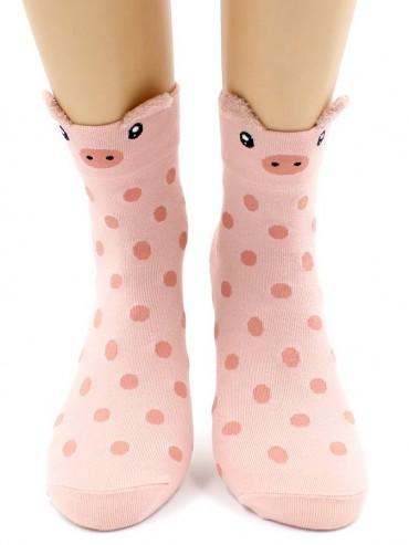 Носки Hobby Line HOBBY 3Д57 носки женские Зверюшки-3Д ушки поросенок