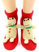 Носки Hobby Line HOBBY 071 носки вязаные АВС Печенька на красном