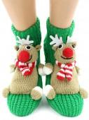 Носки Hobby Line HOBBY 076 носки вязаные АВС Олень