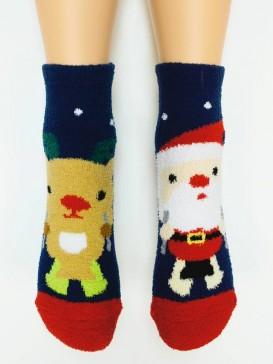 Носки Hobby Line HOBBY 2201-46 носки махровые-пенка Санта Клаус и олень