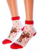 Носки Hobby Line HOBBY 2212 носки махровые-пенка Новогодние