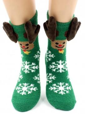 Носки Hobby Line HOBBY 2217-2 носки махровые-пенка Новогодние, олень, рога