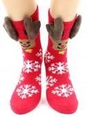 Носки Hobby Line HOBBY 2217-3 носки махровые-пенка Новогодние, олень, рога