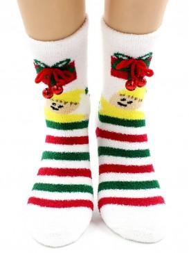 Носки Hobby Line HOBBY 2218-5 носки махровые-пенка Новогодние бубенчики