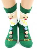 Носки Hobby Line HOBBY 2219-2 носки махровые-пенка Новогодние Дед Мороз