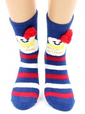 Носки Hobby Line HOBBY 2220-1 носки махровые-пенка Новогодние, снеговики, шапка
