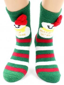 Носки Hobby Line HOBBY 2220-2 носки махровые-пенка Новогодние, снеговики, шапка