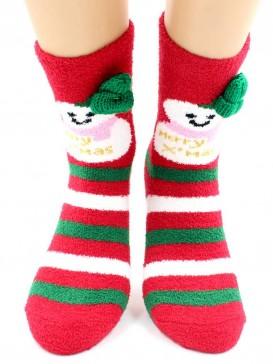 Носки Hobby Line HOBBY 2220-3 махровые-пенка Новогодние, снеговики, шапка