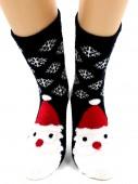 Носки Hobby Line HOBBY 2258-07 носки махровые-пенка Новогодние, дед мороз