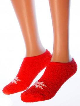 Носки Hobby Line HOBBY 2016-5 носки махровые-пенка укороченные снежинка