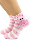 Носки Hobby Line HOBBY 042-8 носки махровые-травка ABC Свинюшка-розовушка