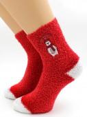 Носки Hobby Line HOBBY 045-3 носки махровые-травка  Мишка в шарфе