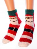 Носки Hobby Line HOBBY 053-3 носки махровые-травка Дед Мороз с ремнем