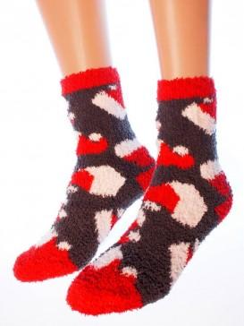 Носки Hobby Line HOBBY 057-2 носки махровые-травка Новогодние колпачки