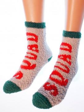 Носки Hobby Line HOBBY 057-6 махровые-травка Santa's