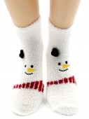 Носки Hobby Line HOBBY 067 носки махровые-травка Снеговик на белом