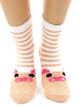 Носки Hobby Line HOBBY 2369-7 носки махровые-травка Хрюша на белом