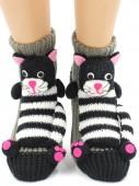 Носки Hobby Line HOBBY 063-22 носки вязаные АВС Полосатый кот
