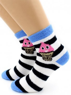 Носки Hobby Line HOBBY 2264 носки махровые-пенка Фруктовое мороженое