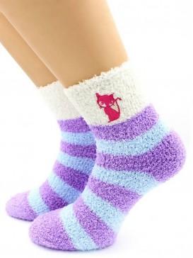 Носки Hobby Line HOBBY 2223-6 носки махровые-травка, вышиты Кошечка