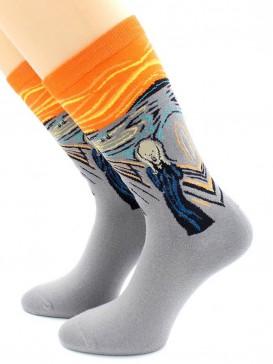 Носки Hobby Line HOBBY 211 носки ART дизайн Крик Эдвард Мунк