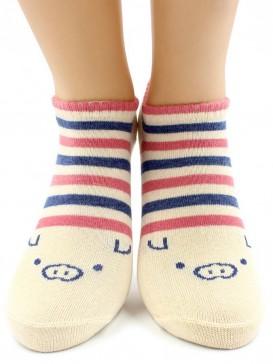 Носки Hobby Line HOBBY 529-1-1 носки укороченные поросята