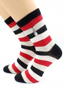 Носки Hobby Line HOBBY 217 носки экслюзив полоска, кролик
