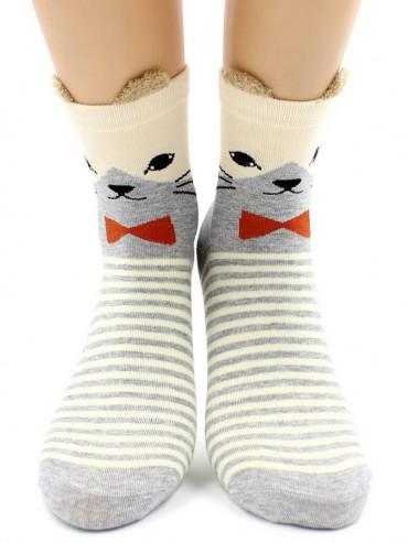 Носки Hobby Line HOBBY 3Д54-2 носки женские Кот-полиглот 3Д