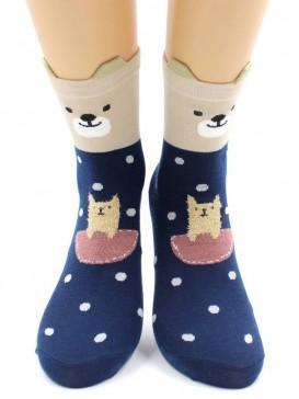 Носки Hobby Line HOBBY 3Д55-2 носки женские Мишка с 3Д ушками