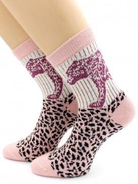 Носки Hobby Line HOBBY 6562 носки ангора, леопард