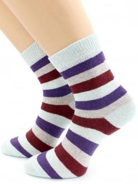 Носки Hobby Line HOBBY 702 носки ангора, широкие полоски