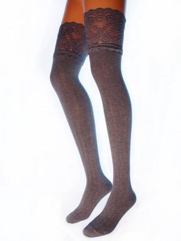 Ботфорты Hobby Line HOBBY 1010-1 женские ажурные, вертикальная лапша