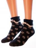 Носки Hobby Line HOBBY 6173 носки ангора, махра внутри, снежинки манжет