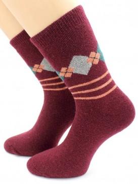 Носки Hobby Line HOBBY 6007-1 носки ангора, махра внутри, ромбики