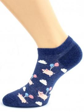 Носки Hobby Line HOBBY 16002-09 носки со смыслом Поросята с шариками (2п)
