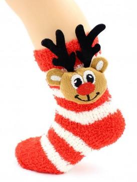 Носки Hobby Line HOBBY 3330 носки детские махровые травка Олененок 3Д