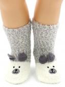 Носки Hobby Line HOBBY 3316 носки детские махровые травка Мишка 3Д