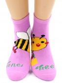 Носки Hobby Line HOBBY 3605 носки детские махровые внутри Пчелка