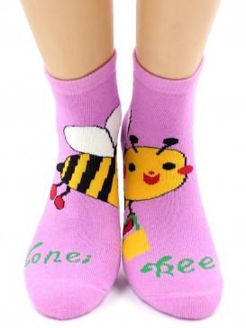 Носки Hobby Line HOBBY 3605 детские махровые внутри Пчелка