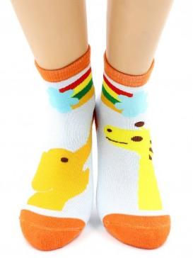Носки Hobby Line HOBBY 3611 носки детские махровые внутри Слоник с жирафом