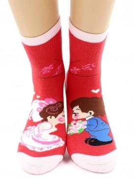 Носки Hobby Line HOBBY 3617 носки детские махровые внутри Девочка с мальчиком